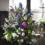Interior Church Flower Arrangement by Go Wild Flowers (Beth Cox)