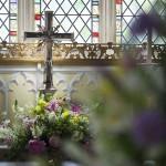 Interior Church Flower Arrangement by Go Wild Flowers (Beth Cox)