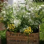Exterior Marquee Flower Arrangement by Go Wild Flowers (Beth Cox)