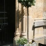 Exterior Church Flower Arrangement by Go Wild Flowers (Beth Cox)