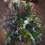 Interior Hanging Flower Arrangement by Go Wild Flowers (Beth Cox)