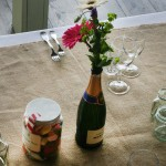 Wedding Table Flower Arrangement by Go Wild Flowers (Beth Cox)