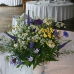 Wedding Table Flowers by Go Wild Flowers (Beth Cox)