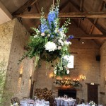 Interior hanging flower arrangement